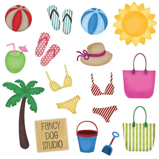 beach clipart beach theme