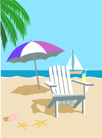 Free . Beach clipart beach theme image library download