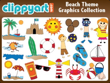 Beach clipart beach theme. Collection by clippyart teachers