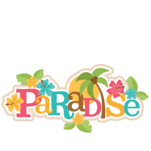 Paradise title available for. Beach clipart supply vector library