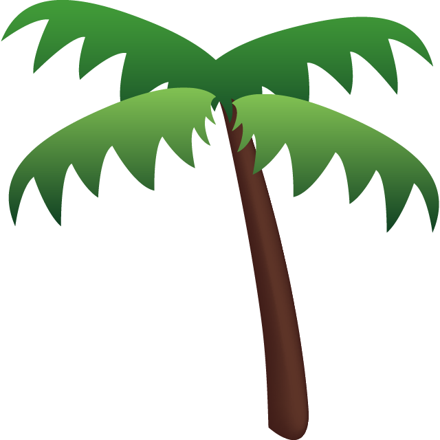 Download palm tree icon. Beach emoji png banner library download