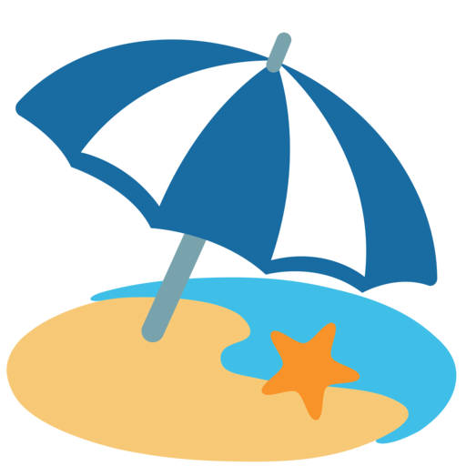 google android nougat. Beach emoji png png library library