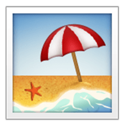 With umbrella for facebook. Beach emoji png graphic freeuse download