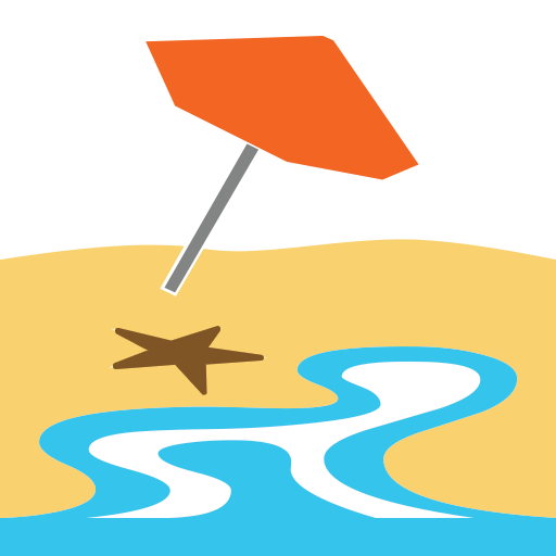 With umbrella for facebook. Beach emoji png graphic download