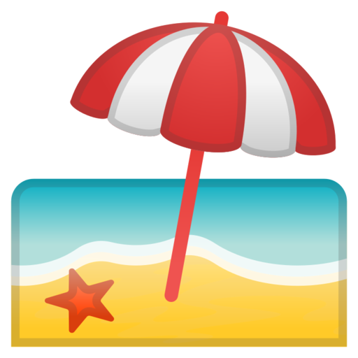 google android pie. Beach emoji png picture free library
