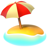 with umbrella on. Beach emoji png graphic freeuse download