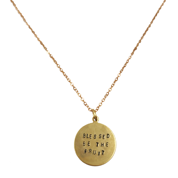 Funny necklace png. Blessed be the fruit