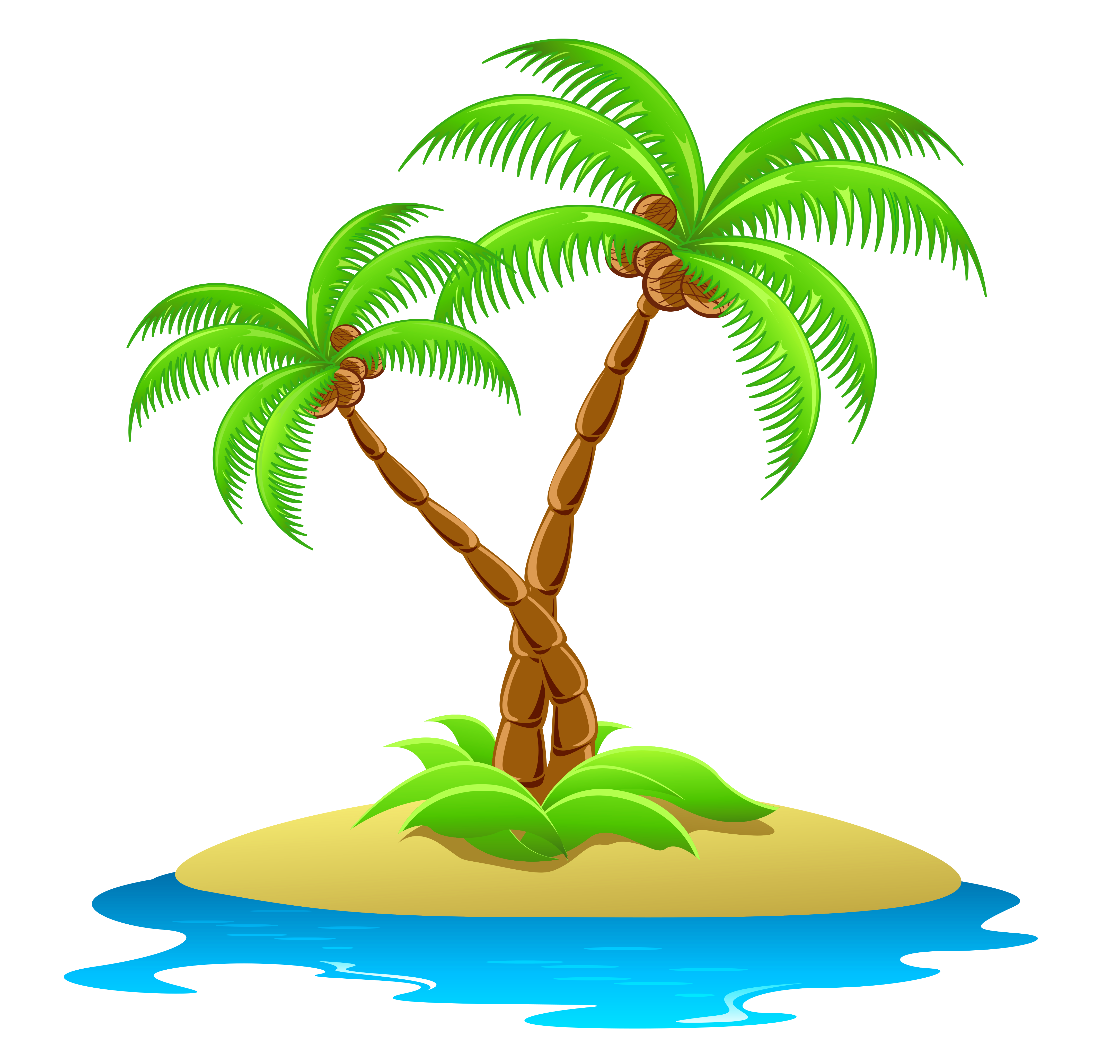 Beach palm tree png. Island with trees transparent