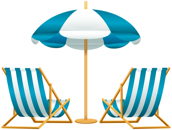 Beach .png. Umbrella with chairs free