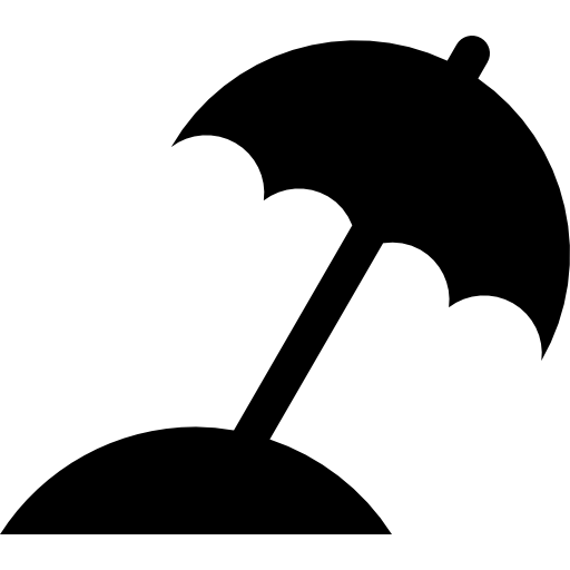 Beach silhouette png. Umbrella black free tools