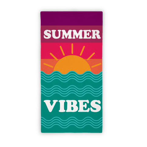 Beach towel png. Summer vibes towels lookhuman