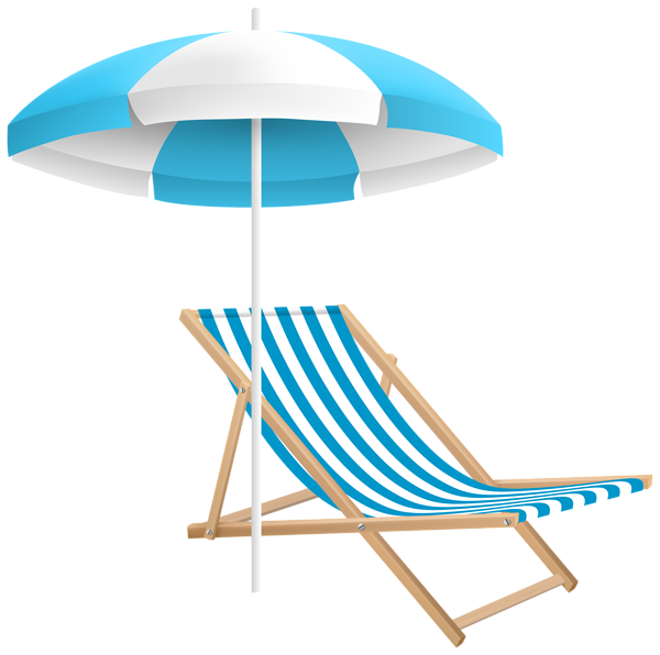 Beach umbrella and chair png. Clip art transparent image