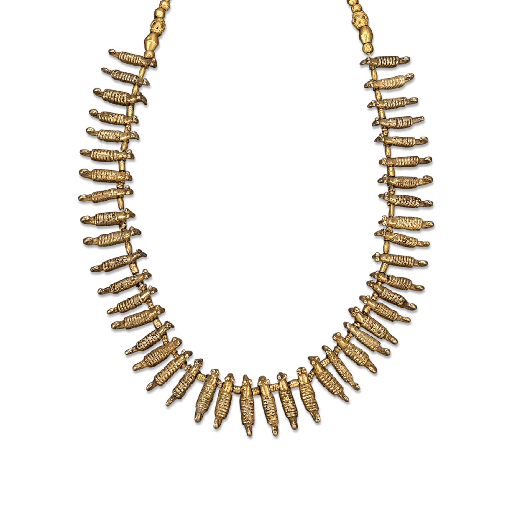 Bead necklace png. Pre columbian sinu goldwork