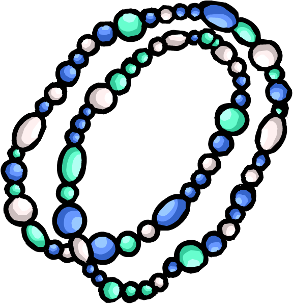 Bead necklace png. Image aqua club penguin