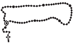 Beads vector rosary. Collection of free catholicize