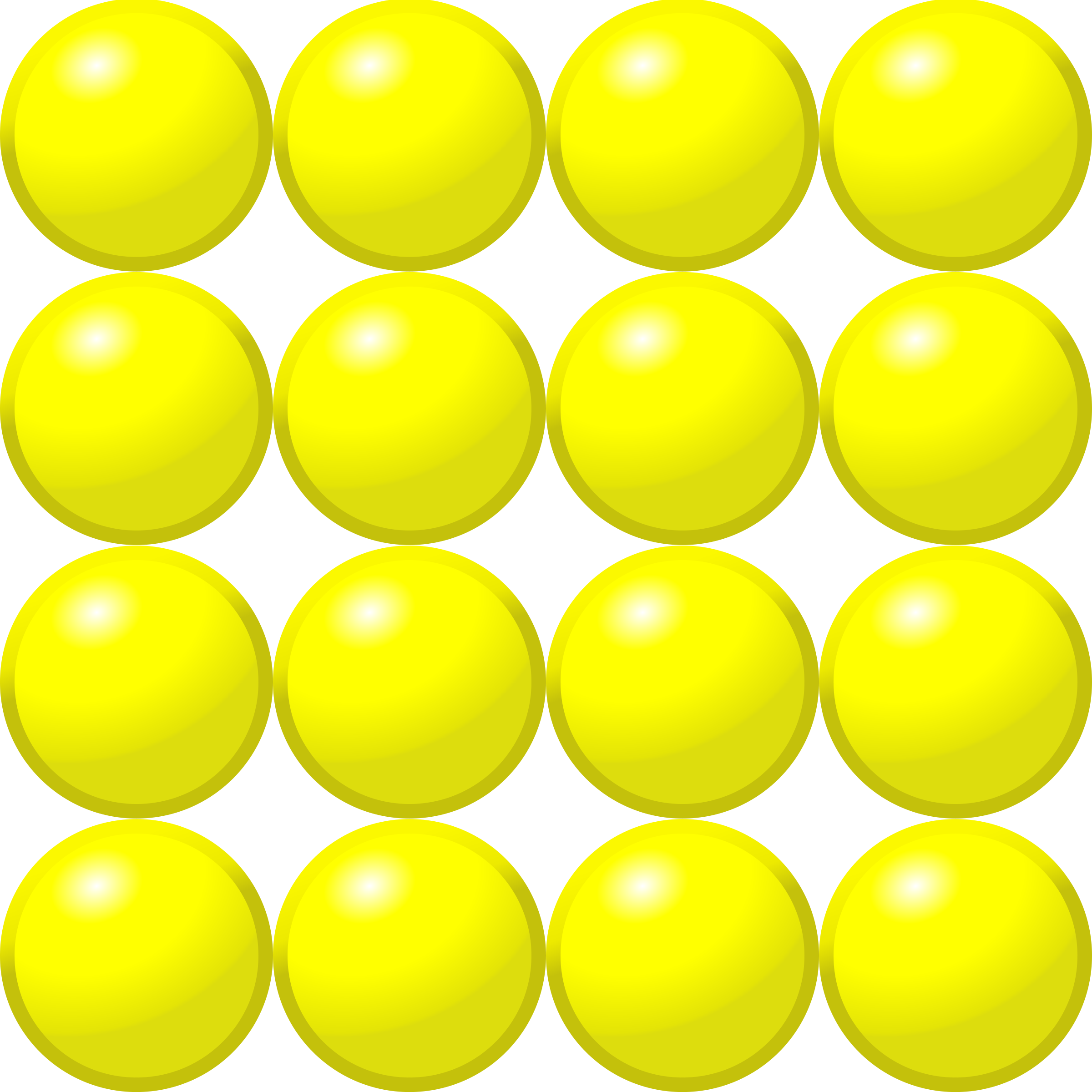 Beads vector yellow. Quantitative picture for multiplication