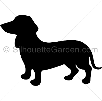 Beagle svg kawaii. Wiener dog silhouette clip
