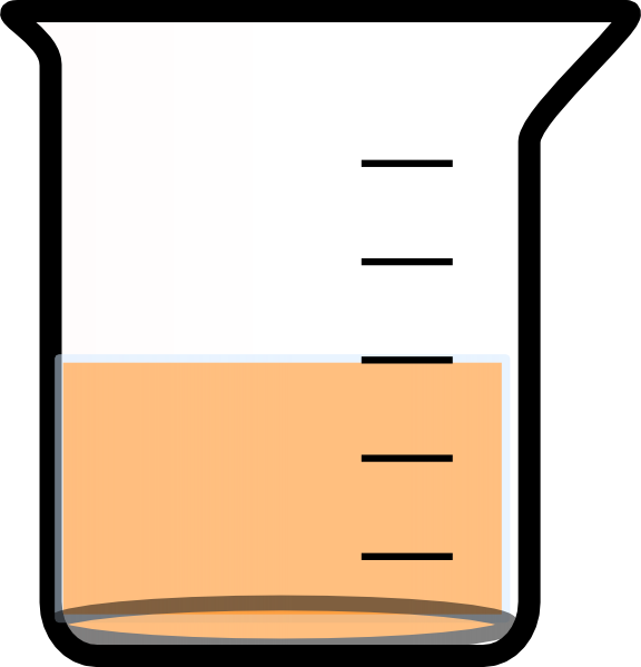 Beaker with liquid png. Painted bottom and clip