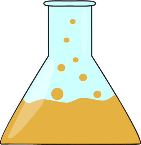 Beaker clipart orange. Bubbling science clip art