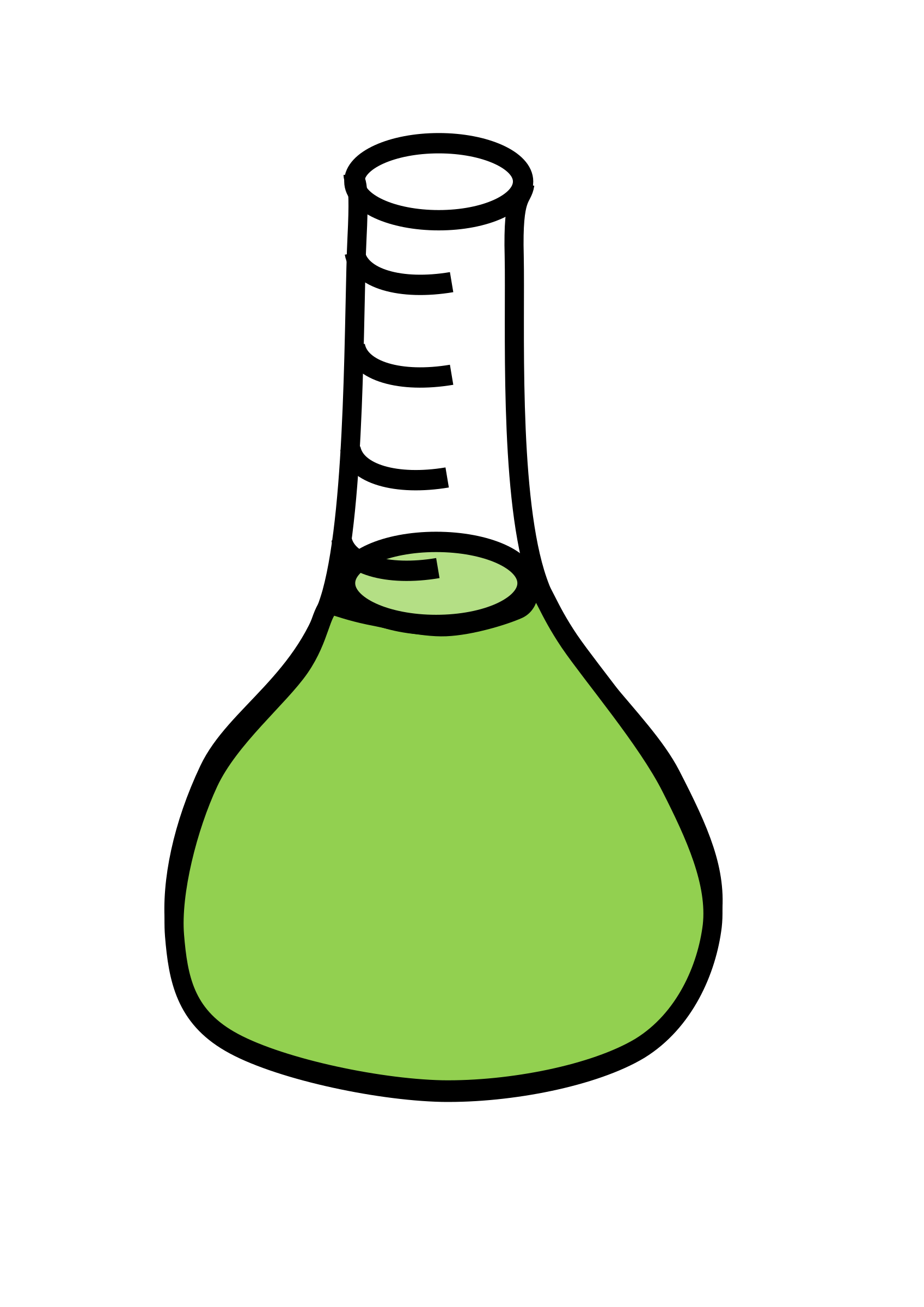 Beaker green png. Erlenmeyer flask with liquid