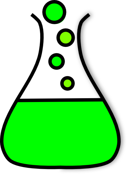 Beaker green png. Bubble prezi clip art