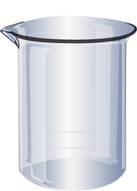 Transparent science beaker. Illustrator cs with transparency