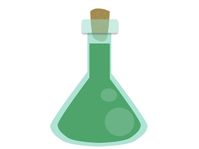 Beaker with liquid png. Green by llendowyn on