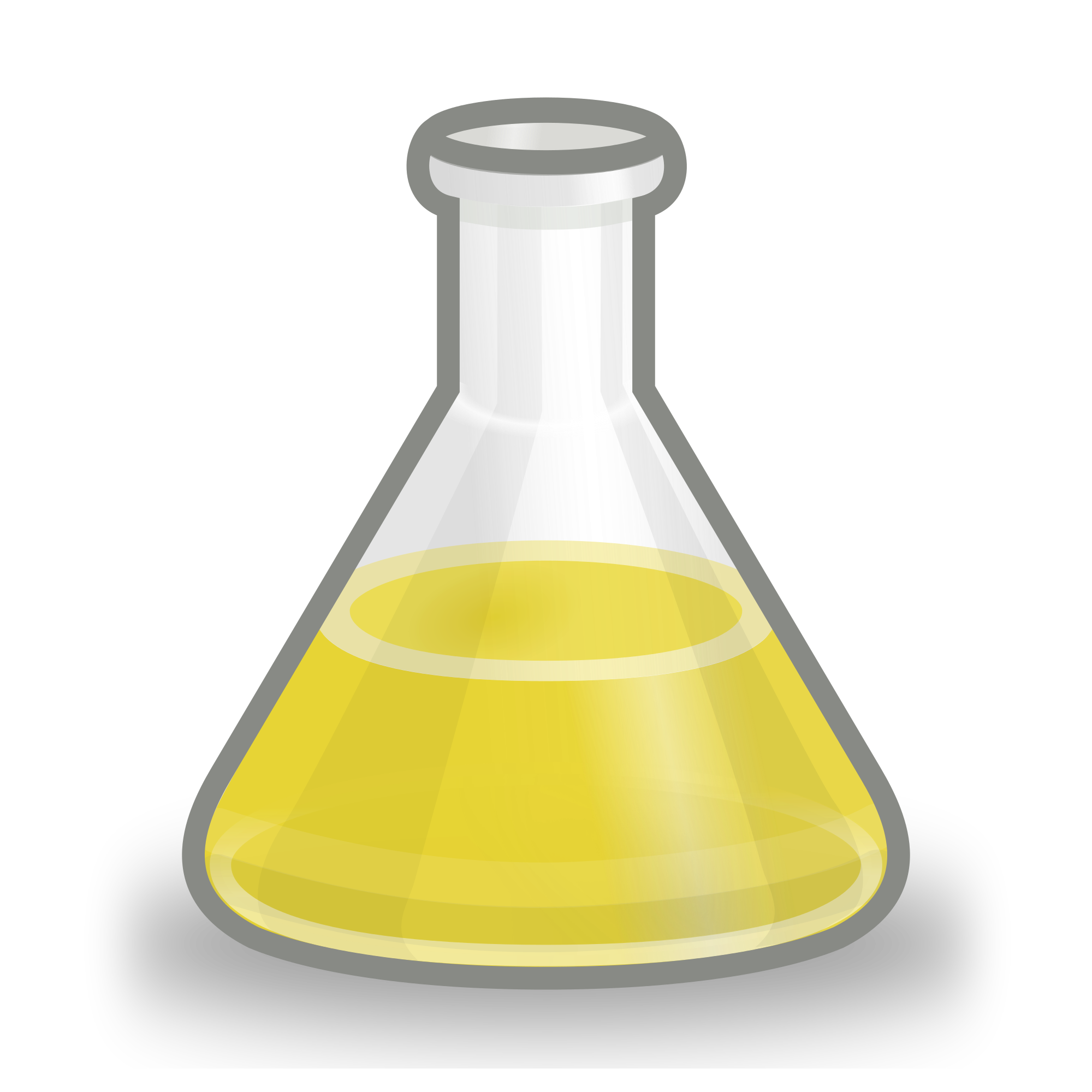 Beaker yellow png. File conical flask svg