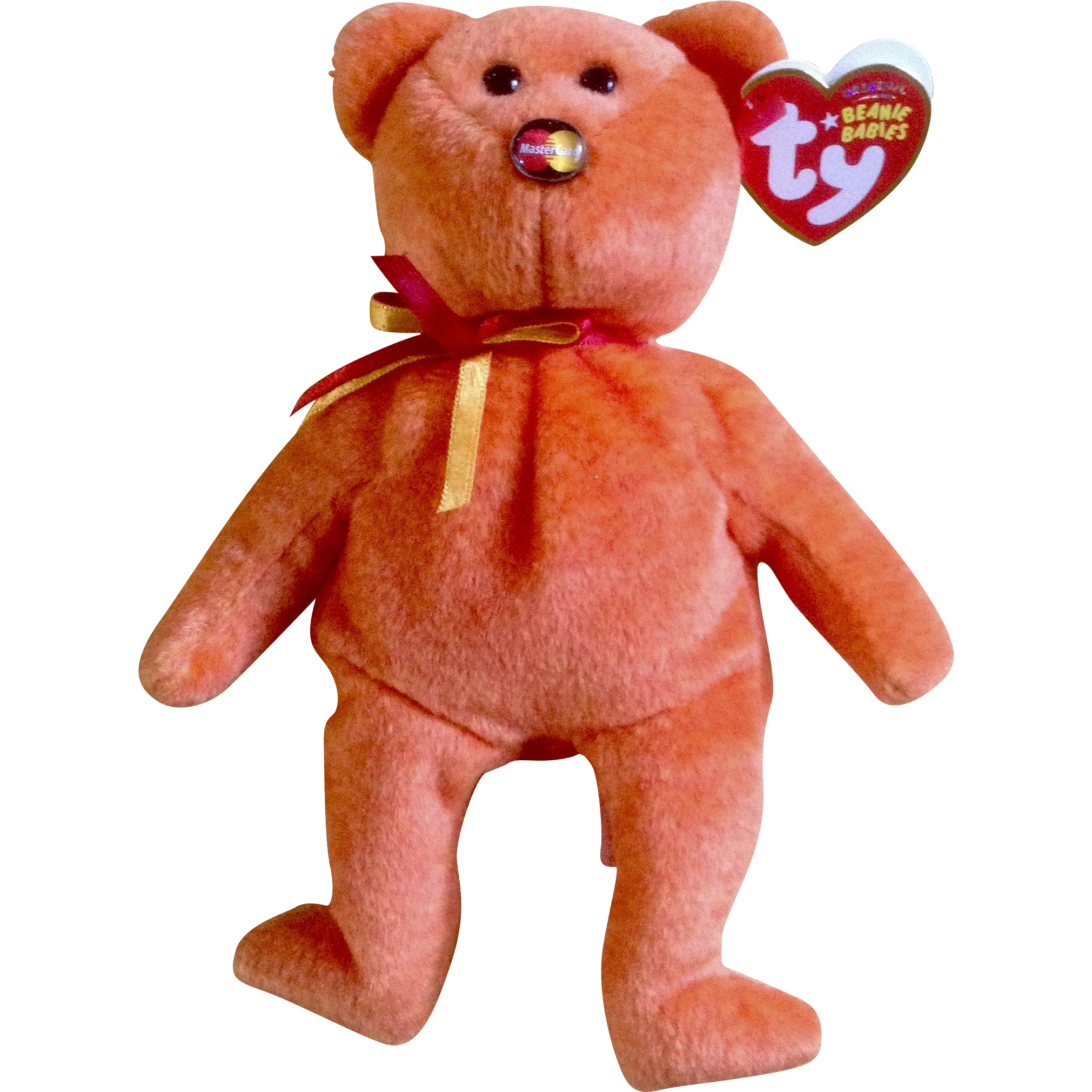 Beanie babies png. Retired orange baby from