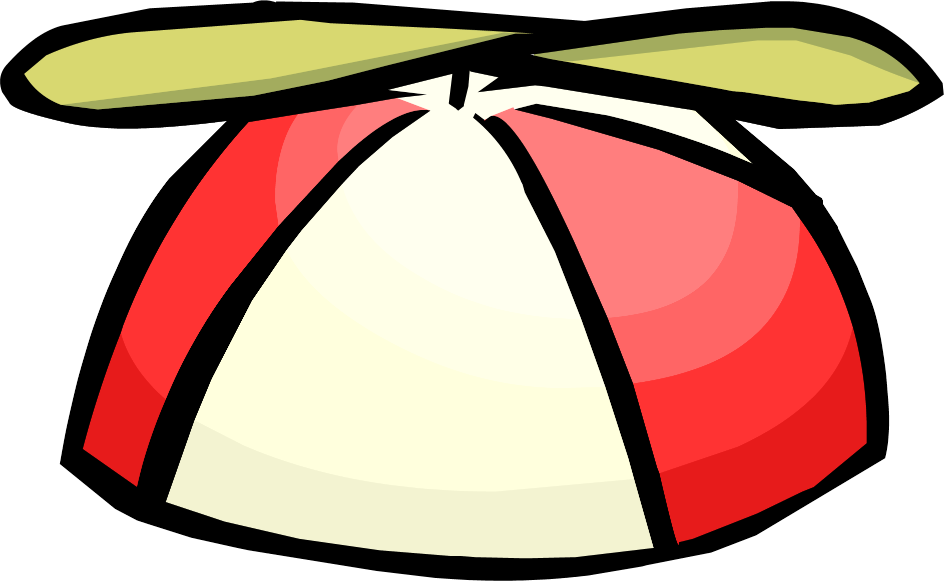 Helicopter hat png. Red propeller cap club
