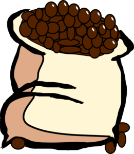 Beans clipart. Bag of coffee clip