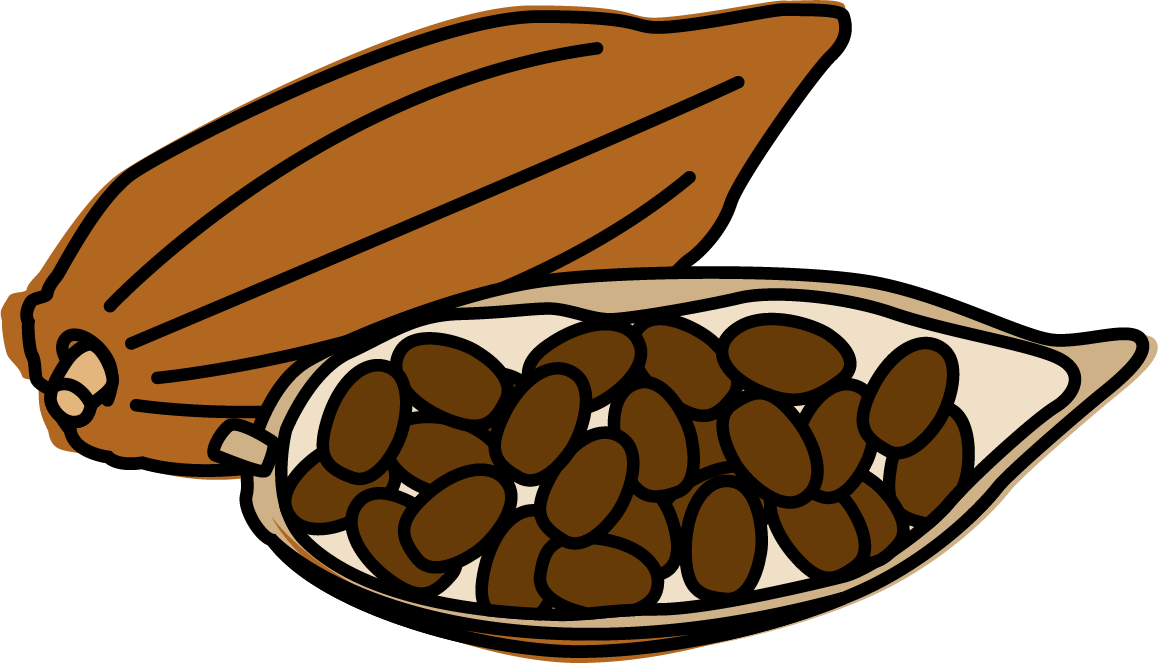 Beans vector bitter. Cocoa image royalty