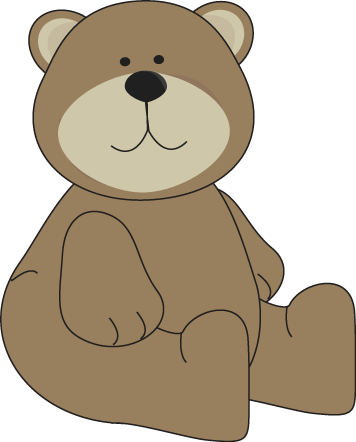 Bear clip art. Images brown sitting down