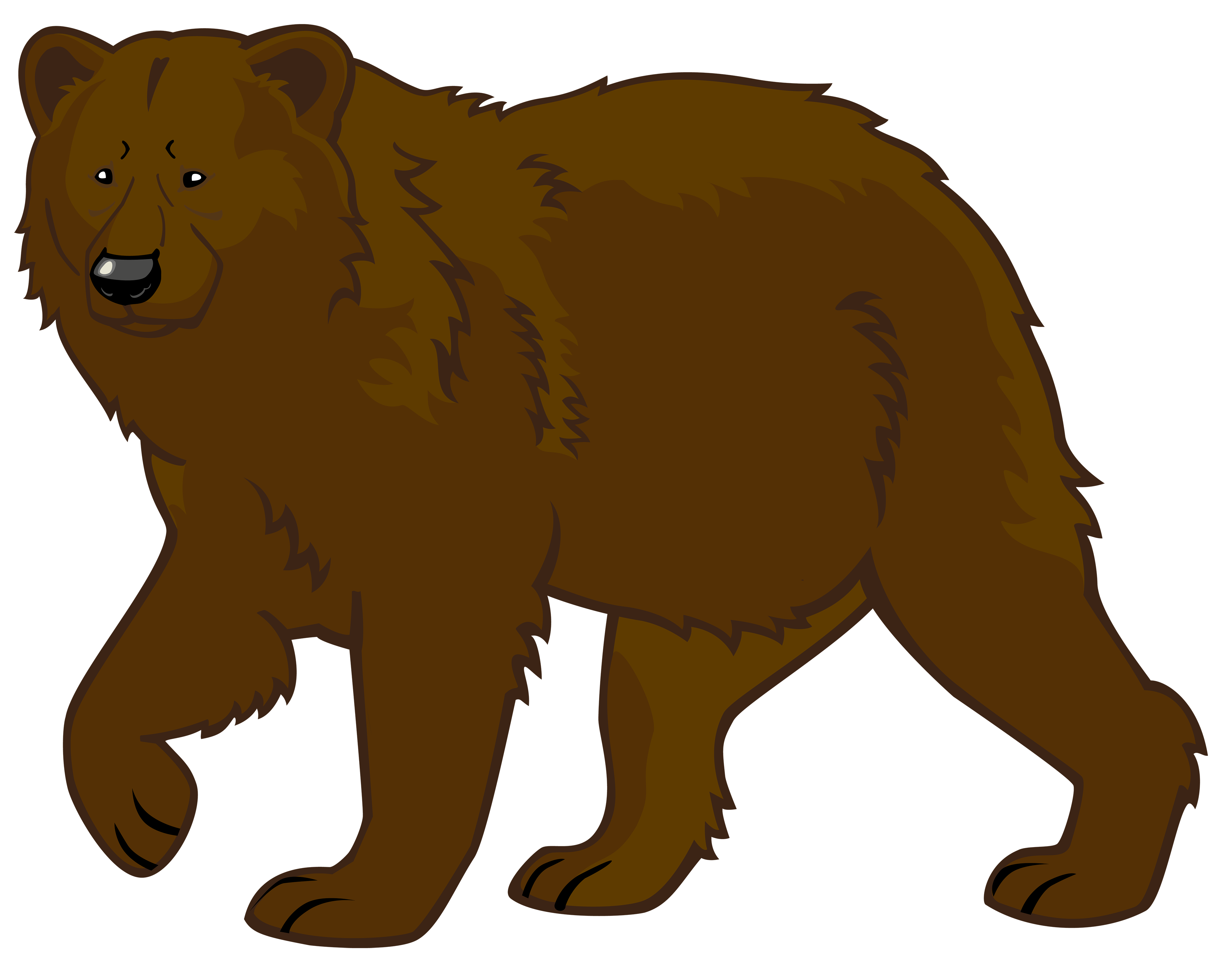 Bears clipart bear crawl. Brown png best web