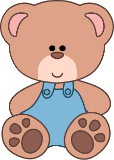 Bear clip art. Teddy clipart school plush