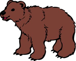 Brown at clker com. Bear clip art banner black and white download