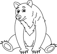 Search results for brown. Bear clip art black and white graphic freeuse stock