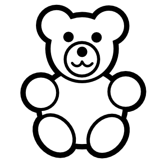 Bear clip art black and white. Free teddy download clipart