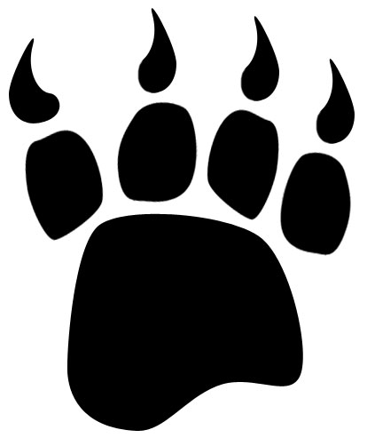 Bear clip art black and white. Paw clipart panda free
