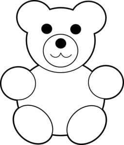 Bear clip art black and white. Teddy clipart panda free