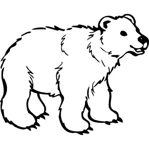 Bear clip art black and white. Clipart panda free images