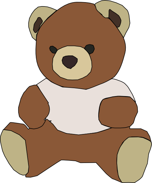 Bear clip art cartoon. Stuffed teddy at clker