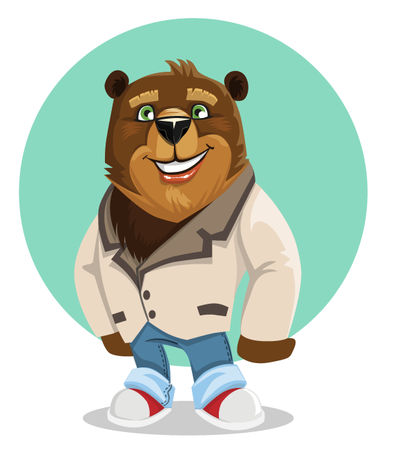 Bear clip art cartoon. Free to use public