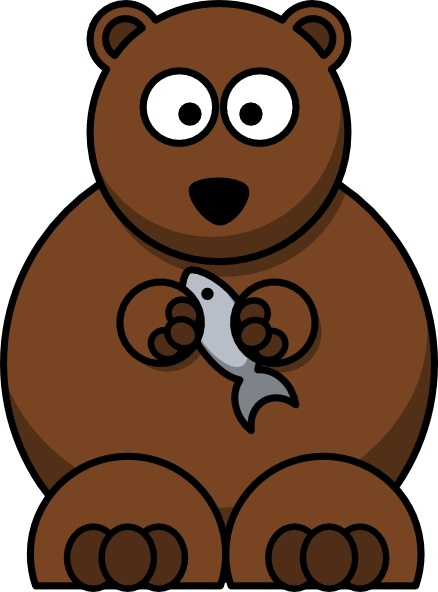 Bear clip art cartoon. Free vector in open