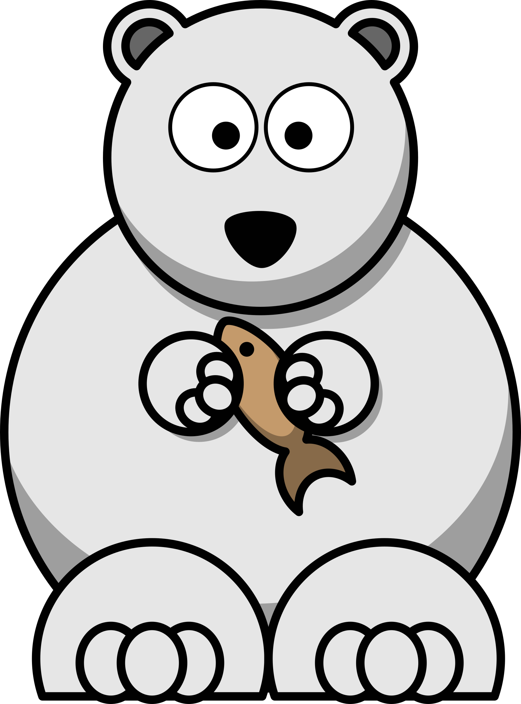 Bear clipart polar bear. Cartoon big image png