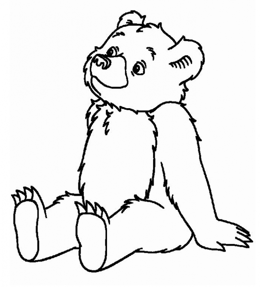 Bear clip art coloring. Lavishly teddy page pages