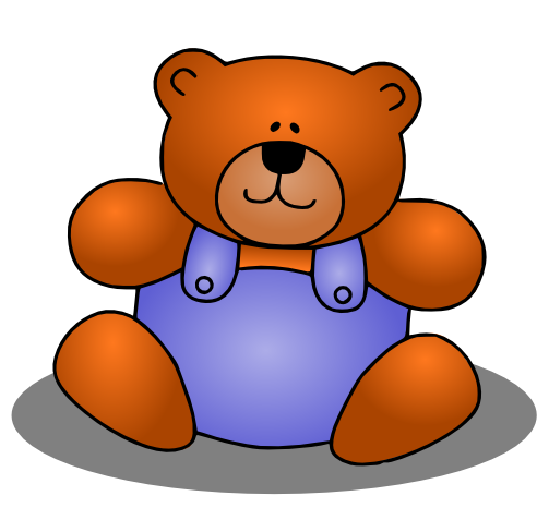 Day clipart stuffed animal. Cute teddy bear clip