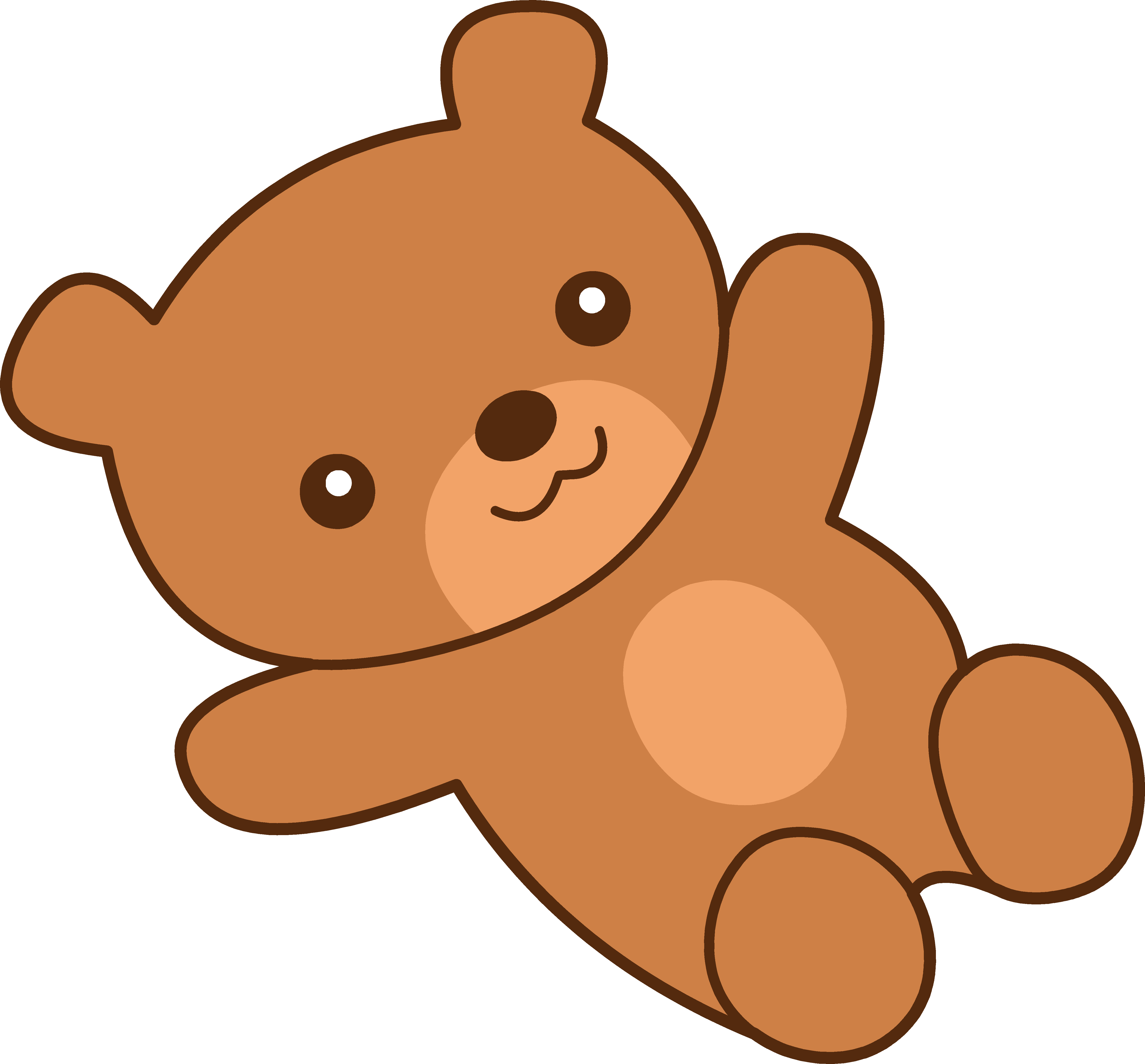 Cute brown teddy clipart. Bear clip art white background image download