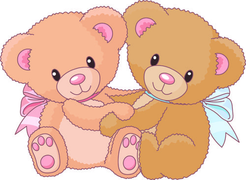 Bear clip art cute. Vintage free eps file