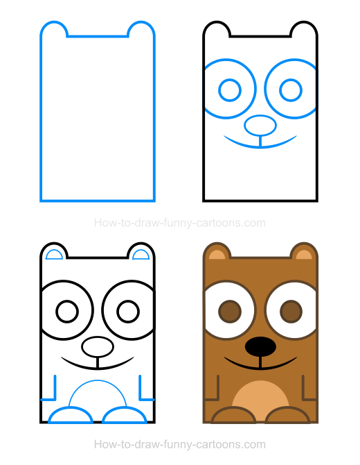 Bear clip art easy. Clipart how to draw
